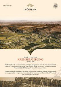 Weingut Zöhrer - Riede Kremser Gebling