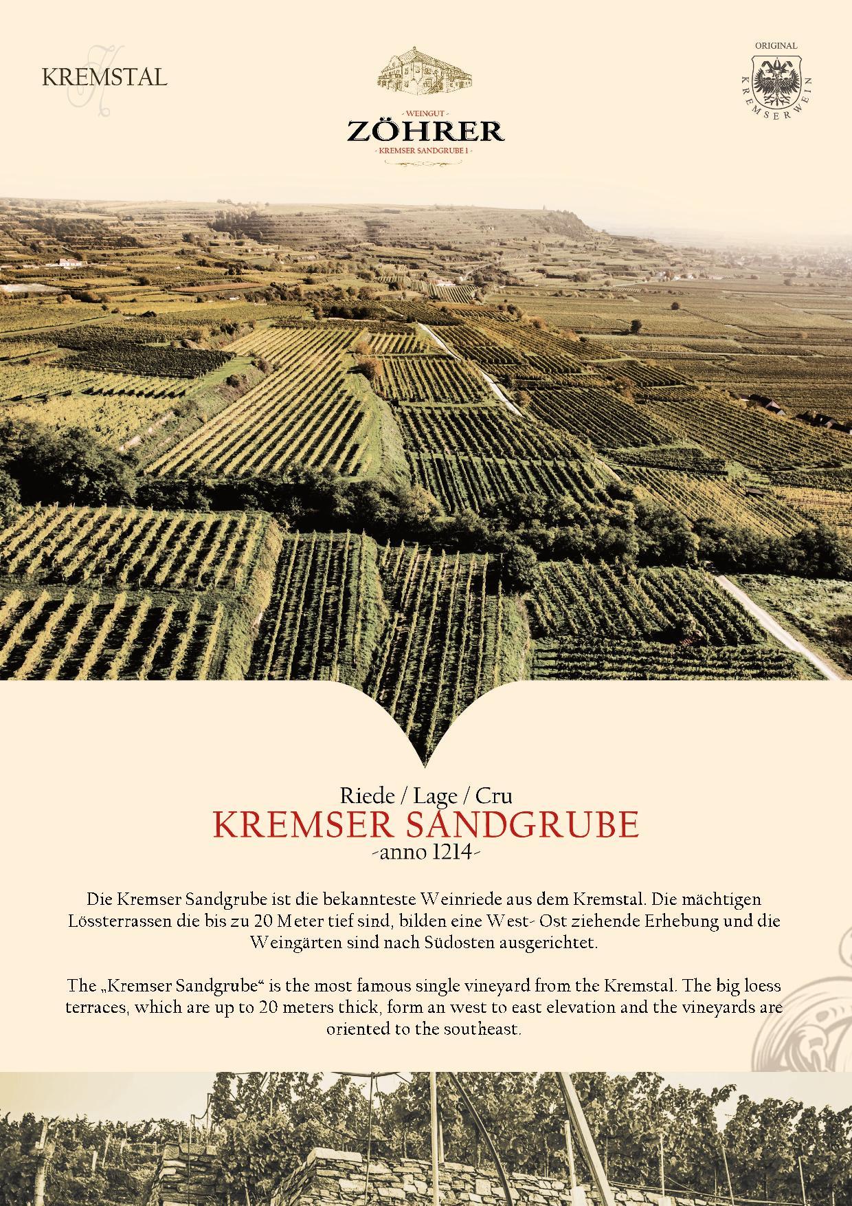 Weingut Zöhrer - Riede Kremser Sandgrube