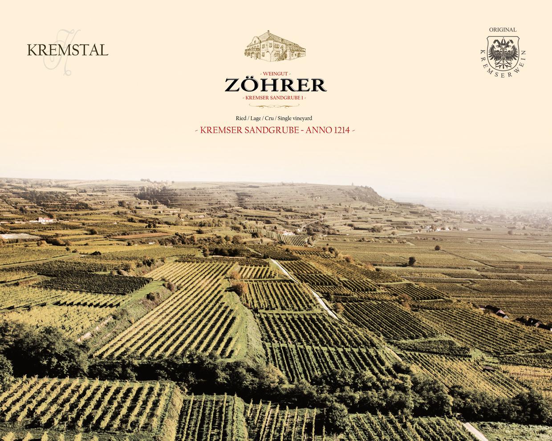 Weingut Zöhrer - Lagenfoto Kremser Sandgrube