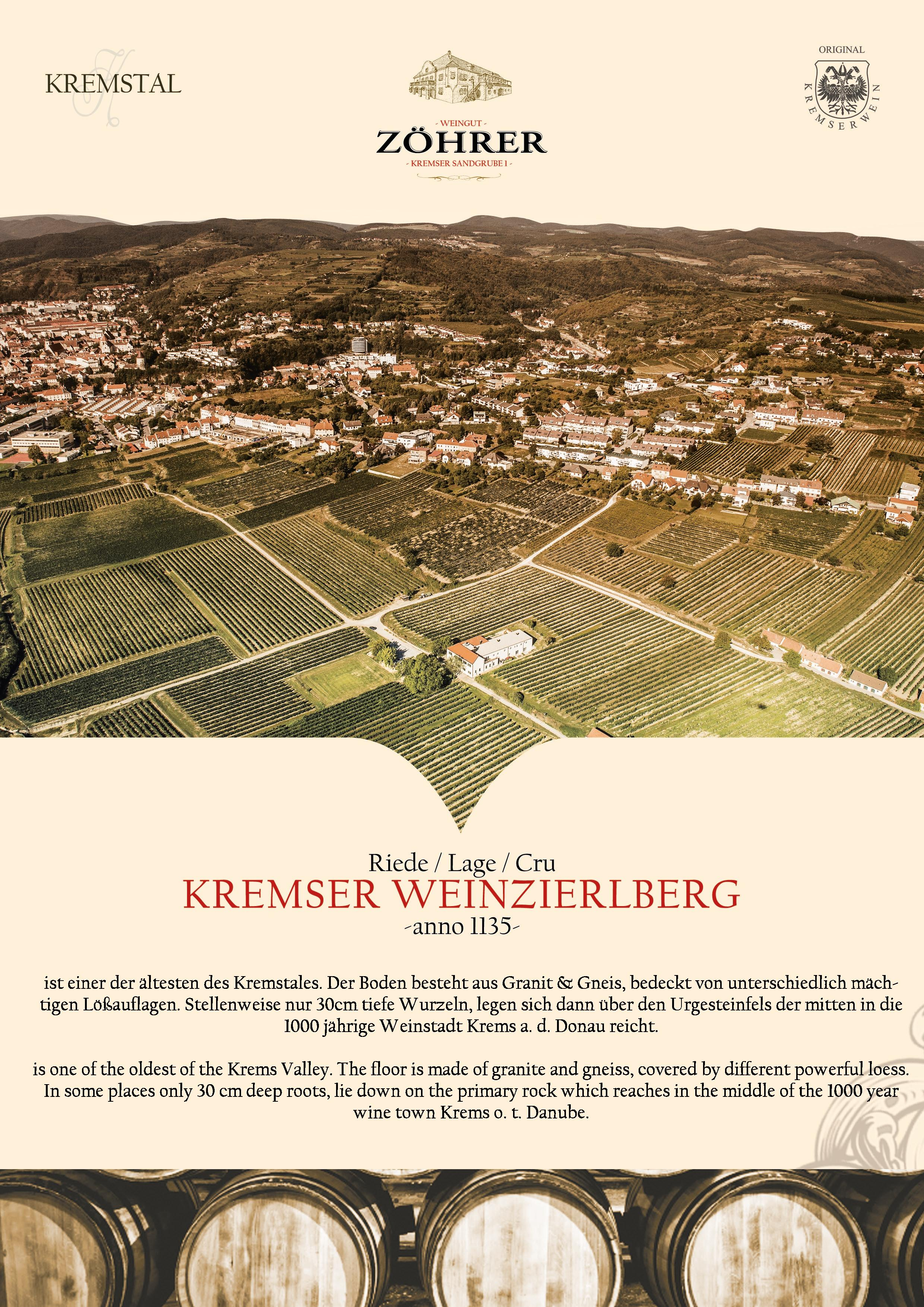 Weingut Zöhrer - Riede Kremser Weinzierlberg