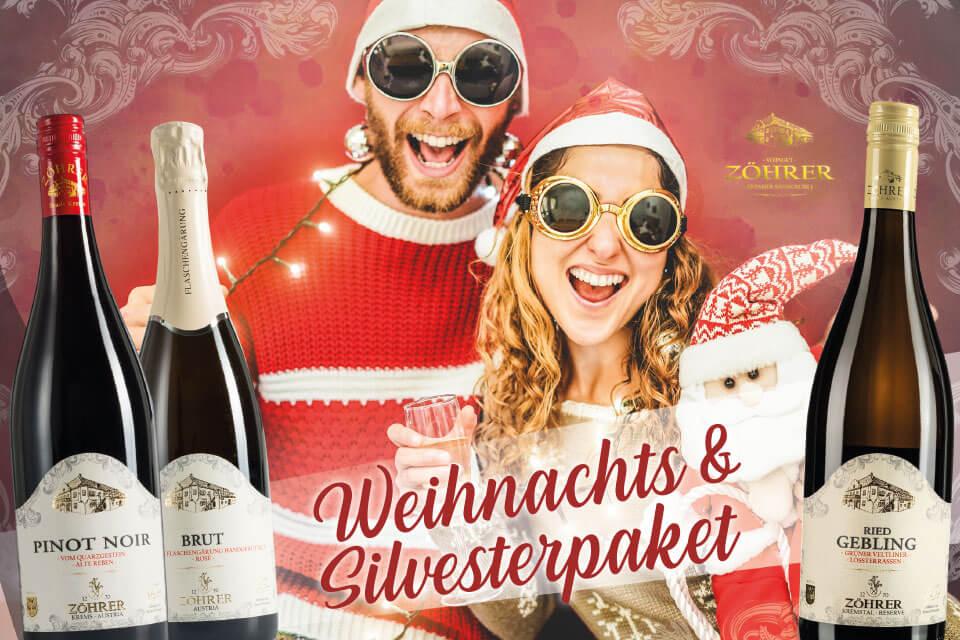 Weihnachtspaket und Silvesterpaket Kremstal - Weingut Zöhrer Sandgrube Krems