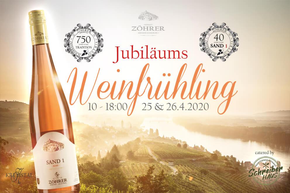 Jubiläums-Weinfrühling 2020 - Weingut Zöhrer